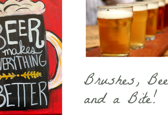 Brushes, Beers, and a Bite!