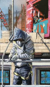 painting of young man in construction
