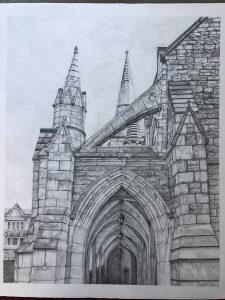 Drawing of cathedral