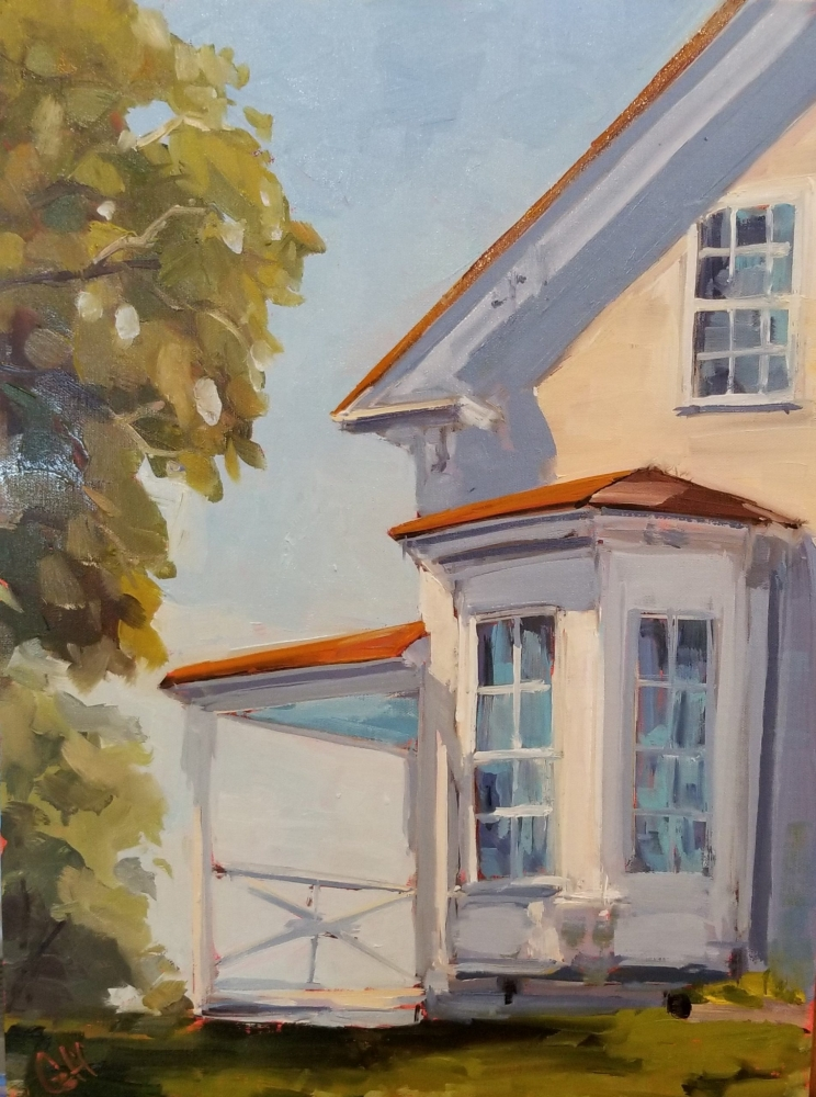 Oil Painting of house
