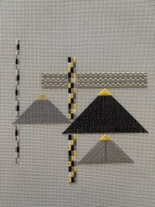 needlework of triangles