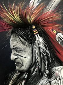 Portrait of Native American