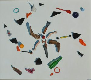 Painting of whirling objects