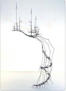 sculpture of steel abstract