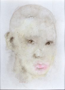 Watercolor of young man