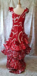 Red dress made out of paper