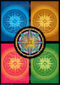 Digital illustration of geometric forms