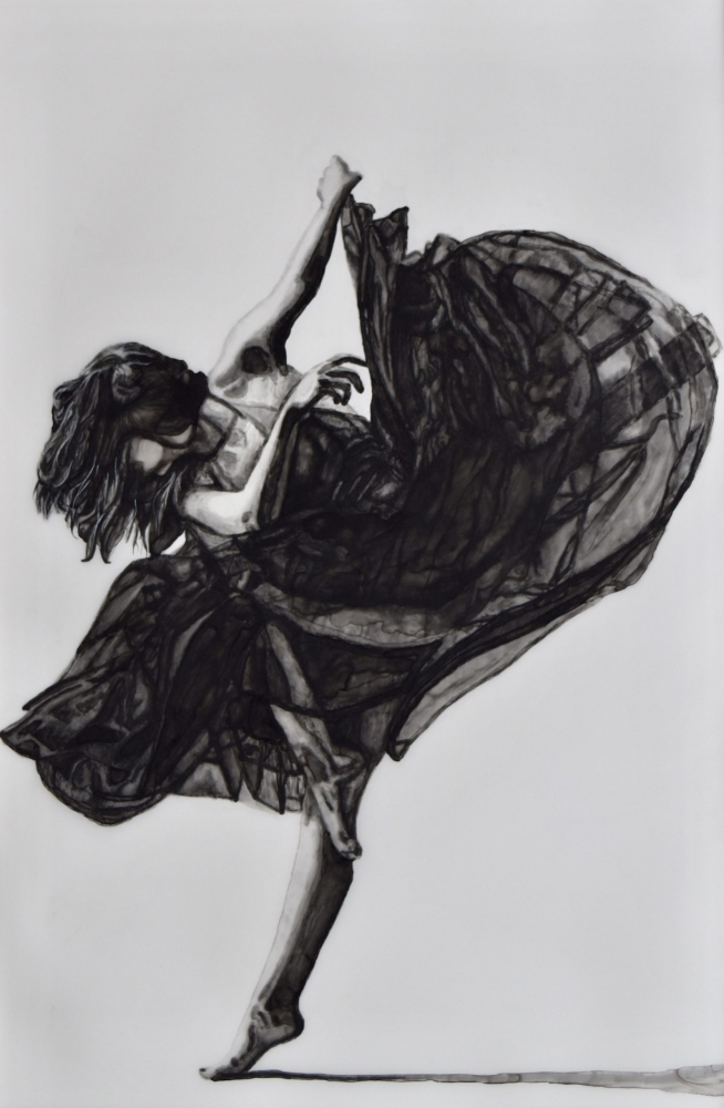 ink drawing of a dancer