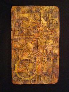 Hydrostone relief artwork