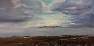 Acrylic landscape of the Great Lakes