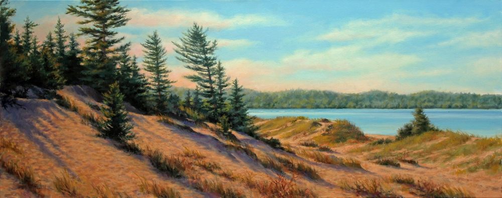 Oil painting of Petoskey Dunes