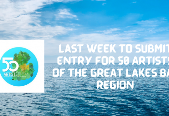 Last week to enter the 50 Artists of the Great Lakes Bay Region 2021